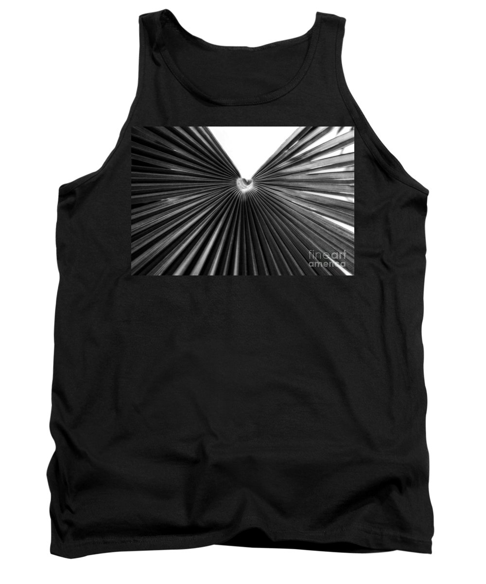 Nature Tank Top featuring the photograph Palm Leaf 6684bw by Earl Johnson