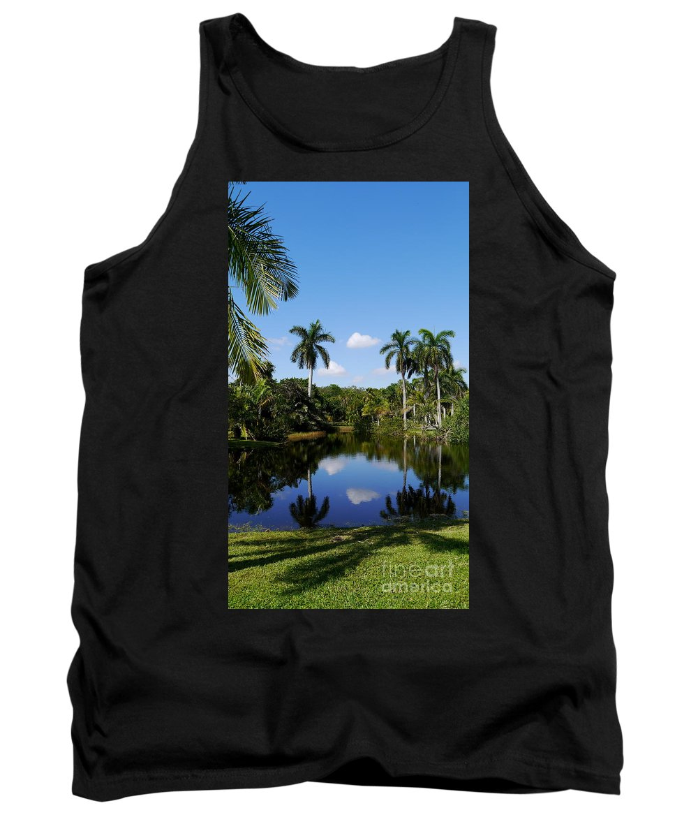 Palm Tank Top featuring the photograph Palm Reflection And Shadow by Christiane Schulze Art And Photography