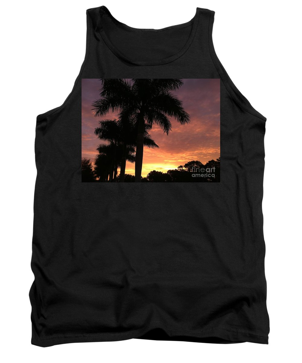 Paradise Tank Top featuring the photograph Palm Sensation by Melissa Darnell Glowacki
