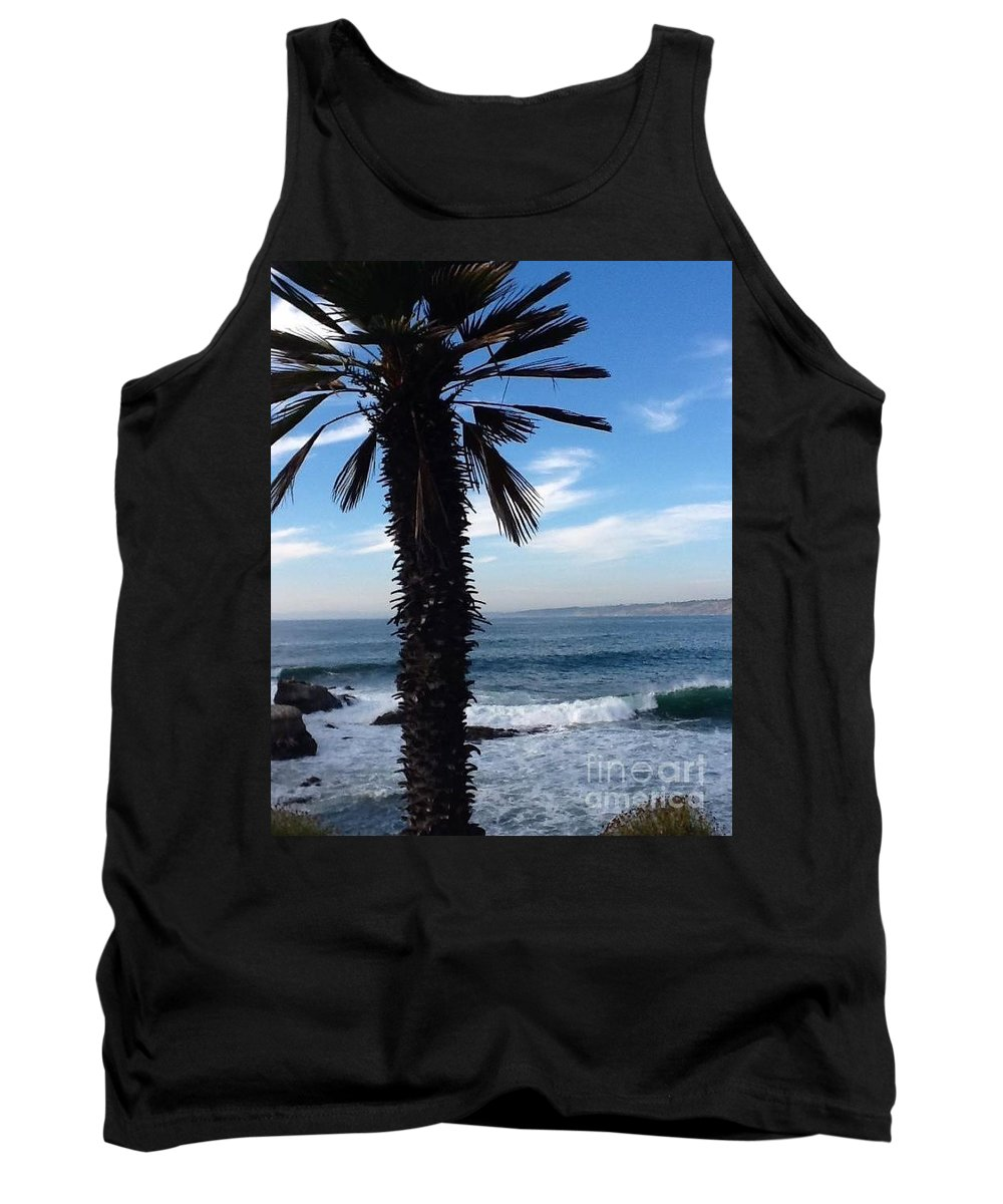 Waves Tank Top featuring the photograph Palm Waves by Susan Garren