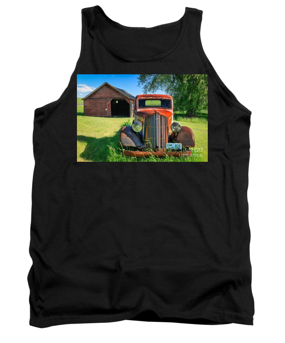 America Tank Top featuring the photograph Palouse Dodge by Inge Johnsson