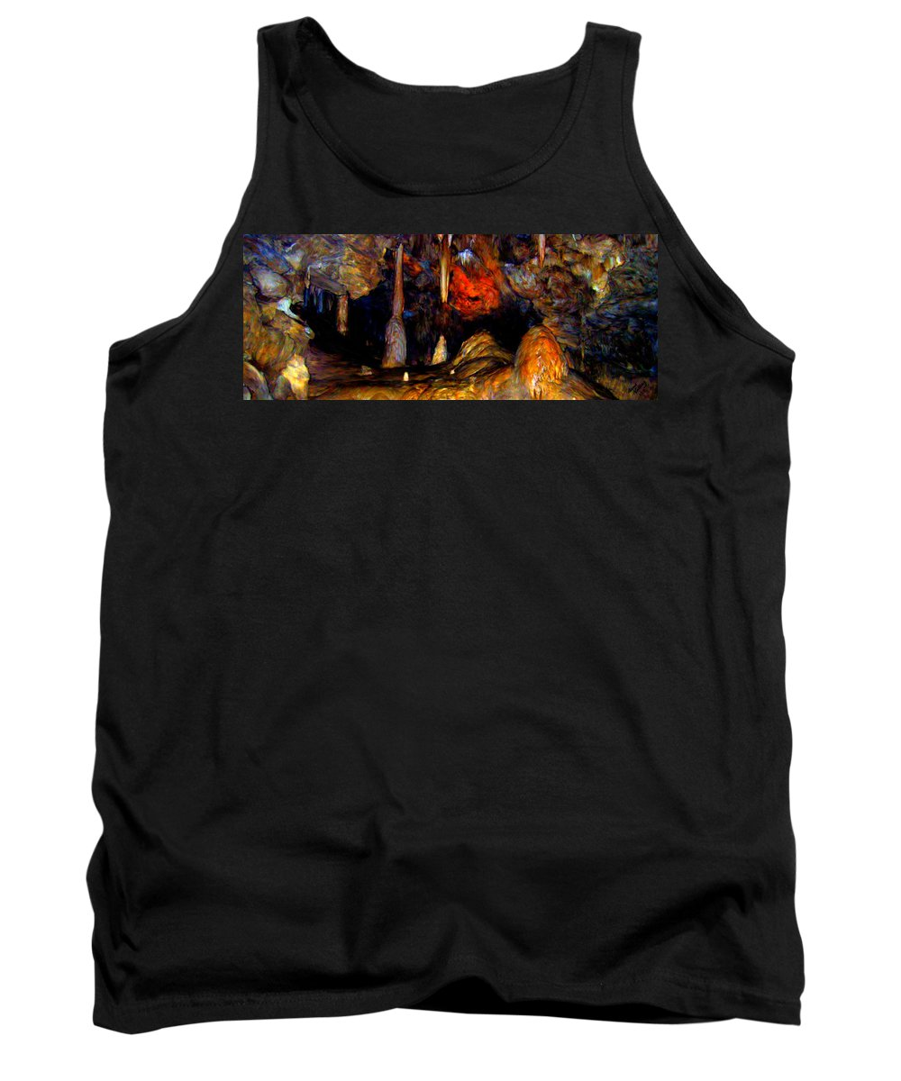 Cave Tank Top featuring the painting Pano Of A Colorful Cave by Bruce Nutting