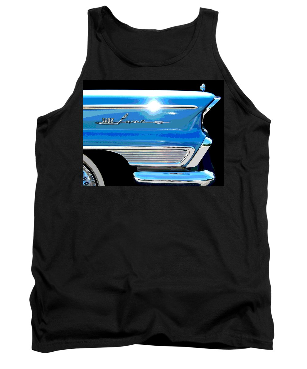 Mercury Tank Top featuring the photograph Park Lane Flash - Posterized by Larry Hunter