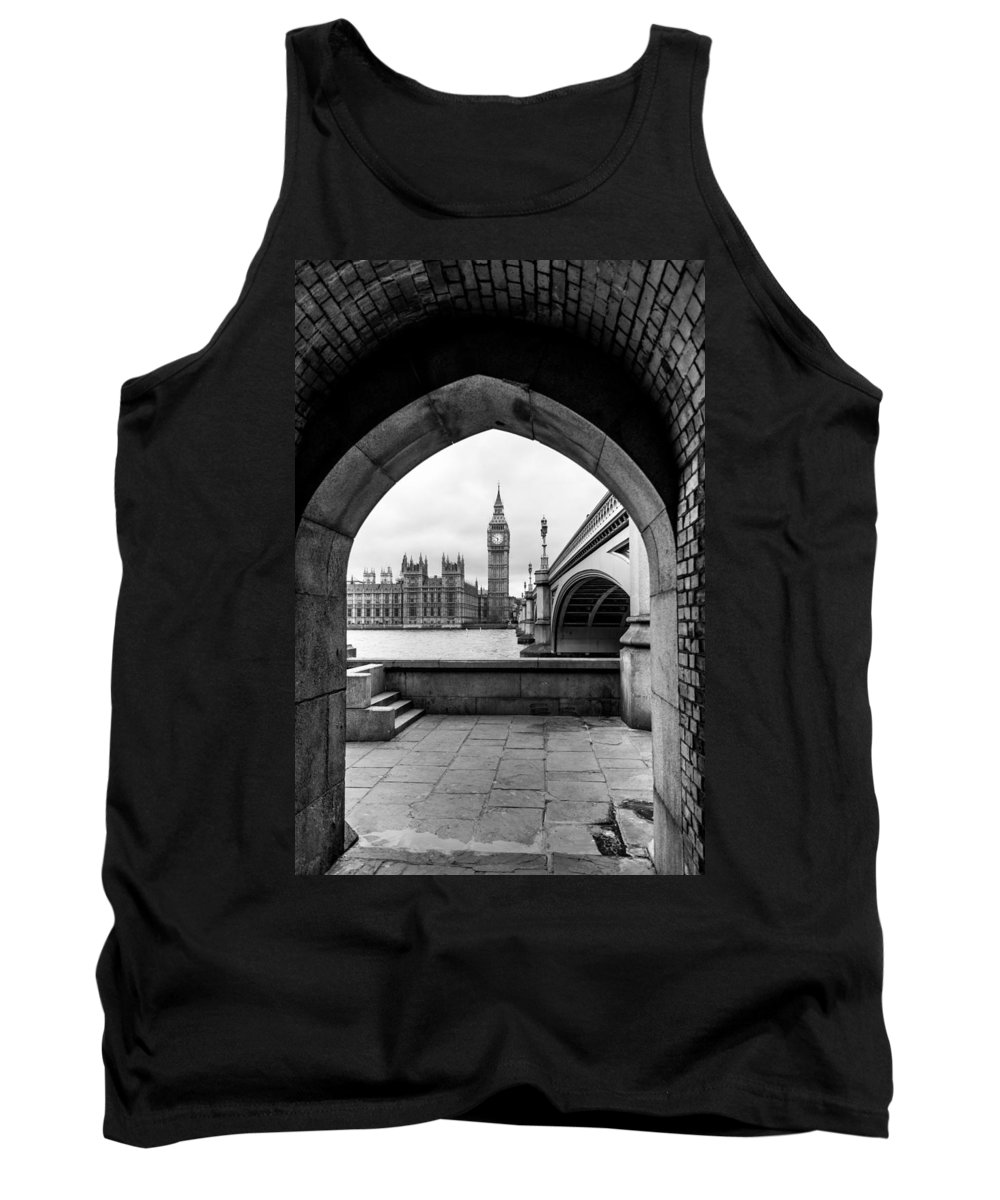 London Tank Top featuring the photograph Parliament Through An Archway by Matt Malloy