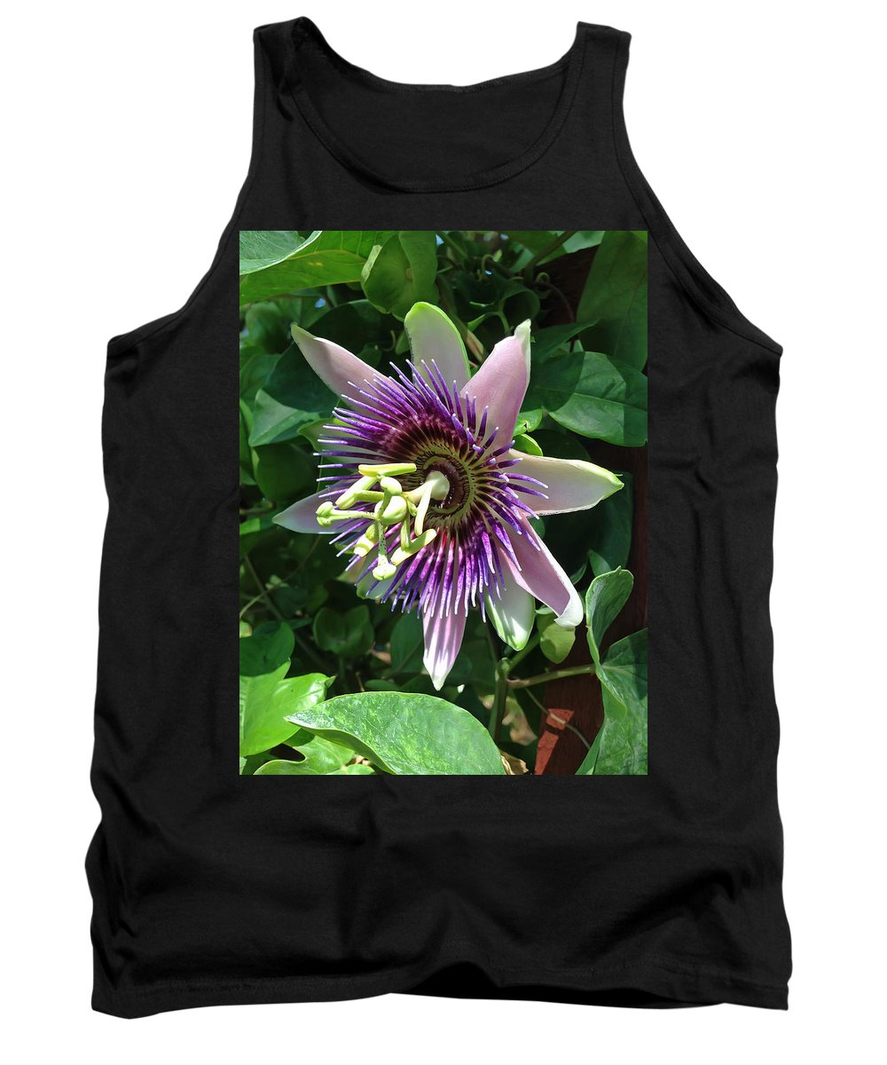 Passion Flower Tank Top featuring the photograph Passion Flower 5 by Aimee L Maher ALM GALLERY