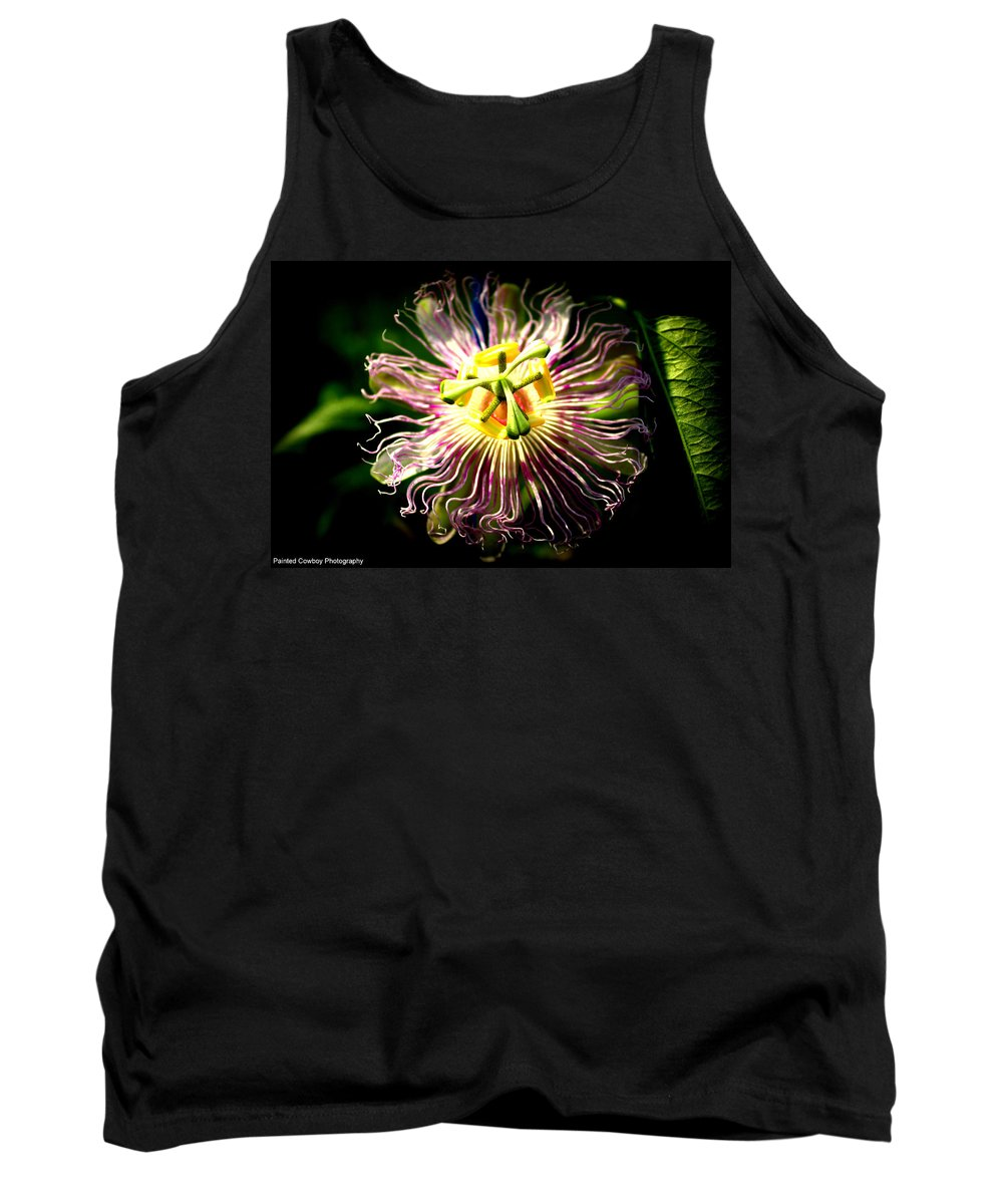 Flower Tank Top featuring the photograph Passion Flower by Daniel Jakus