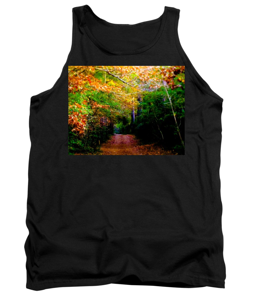 Paths Tank Top featuring the photograph Paths We Choose by Karen Wiles