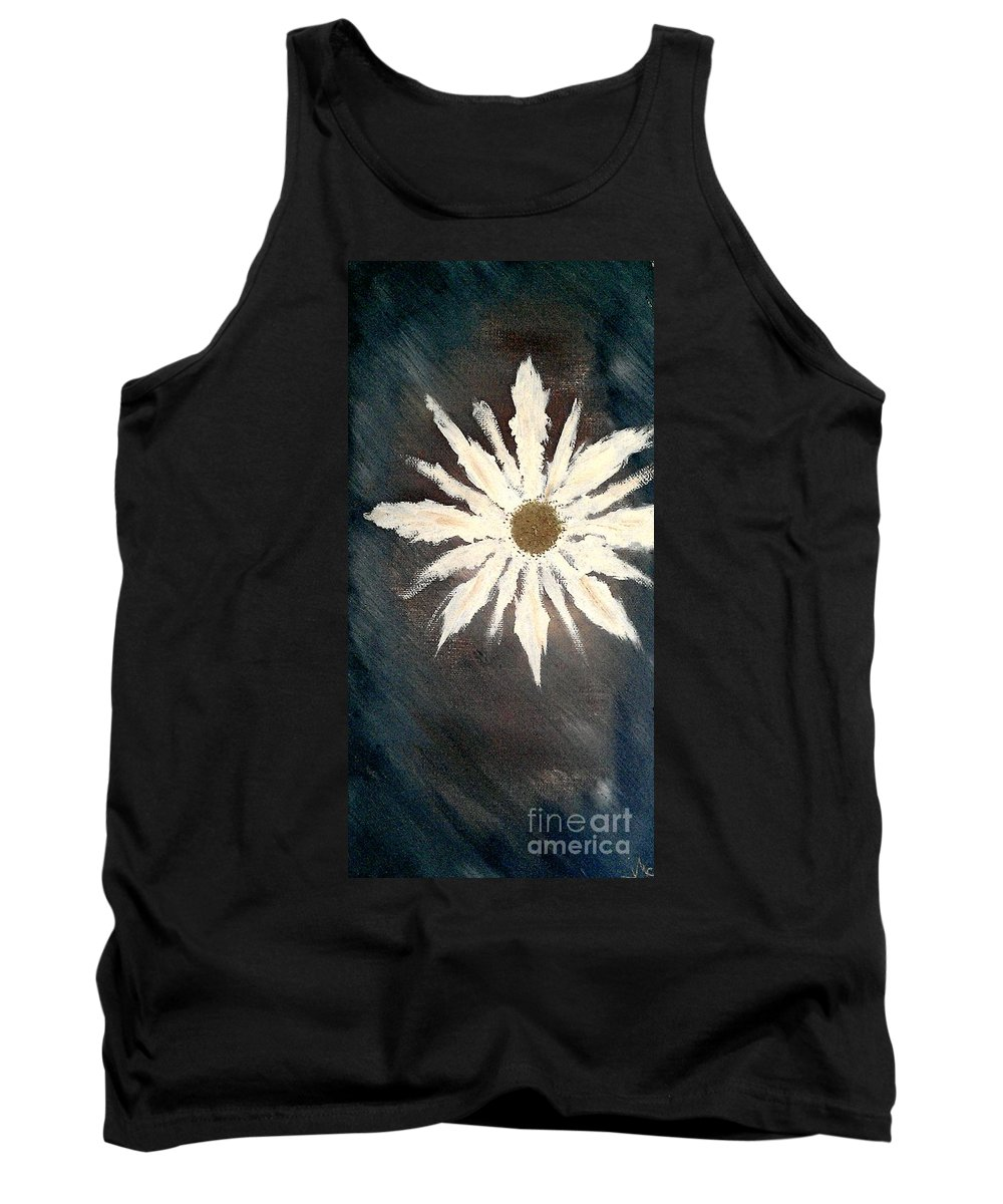 Peace Flower Tank Top featuring the painting Peace Flower by Jacqueline McReynolds