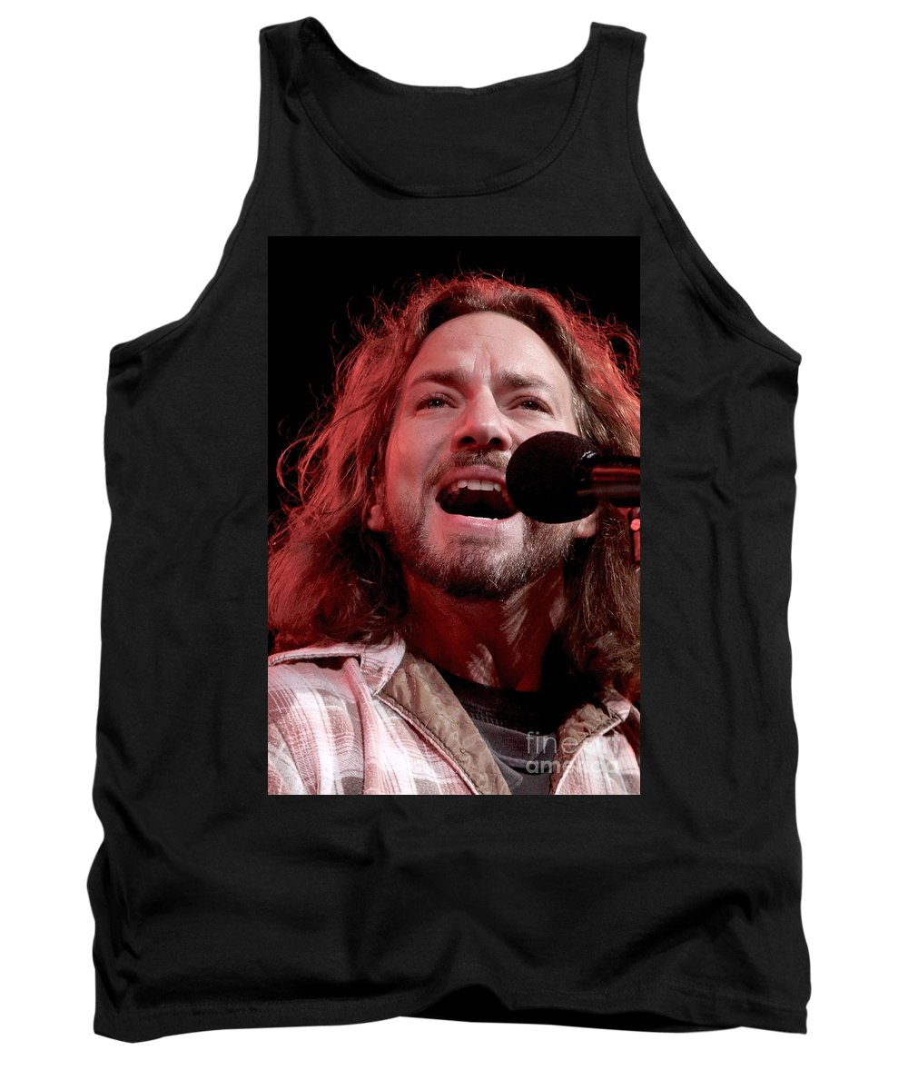 Pictures For Sale Tank Top featuring the photograph Pearl Jam by Concert Photos