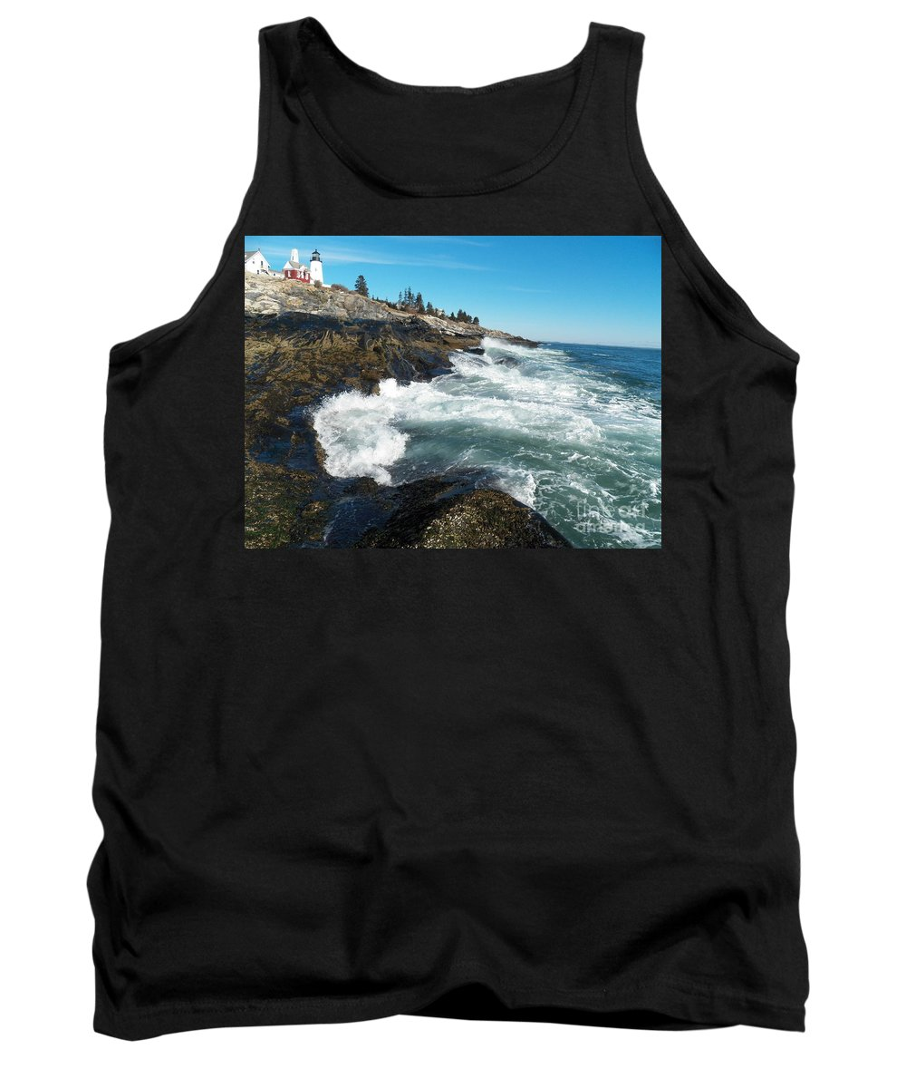 Pemaquid Point Tank Top featuring the photograph Pemaquid Point Lighthouse 1 by Joseph Marquis