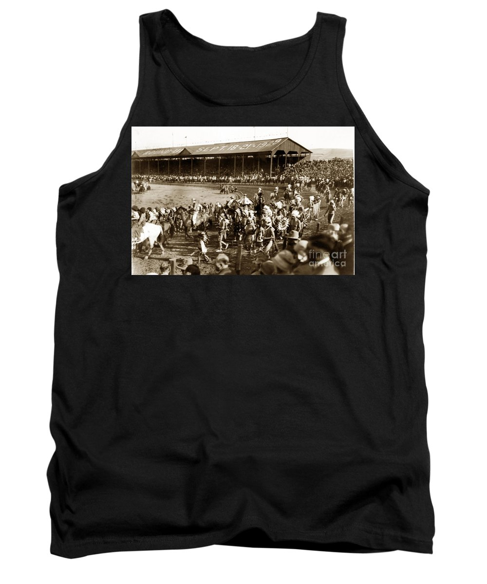 Pendleton Tank Top featuring the photograph Pendleton Round-up Oregon Lewis Josselyn Photo Sept. 1929 by California Views Archives Mr Pat Hathaway Archives