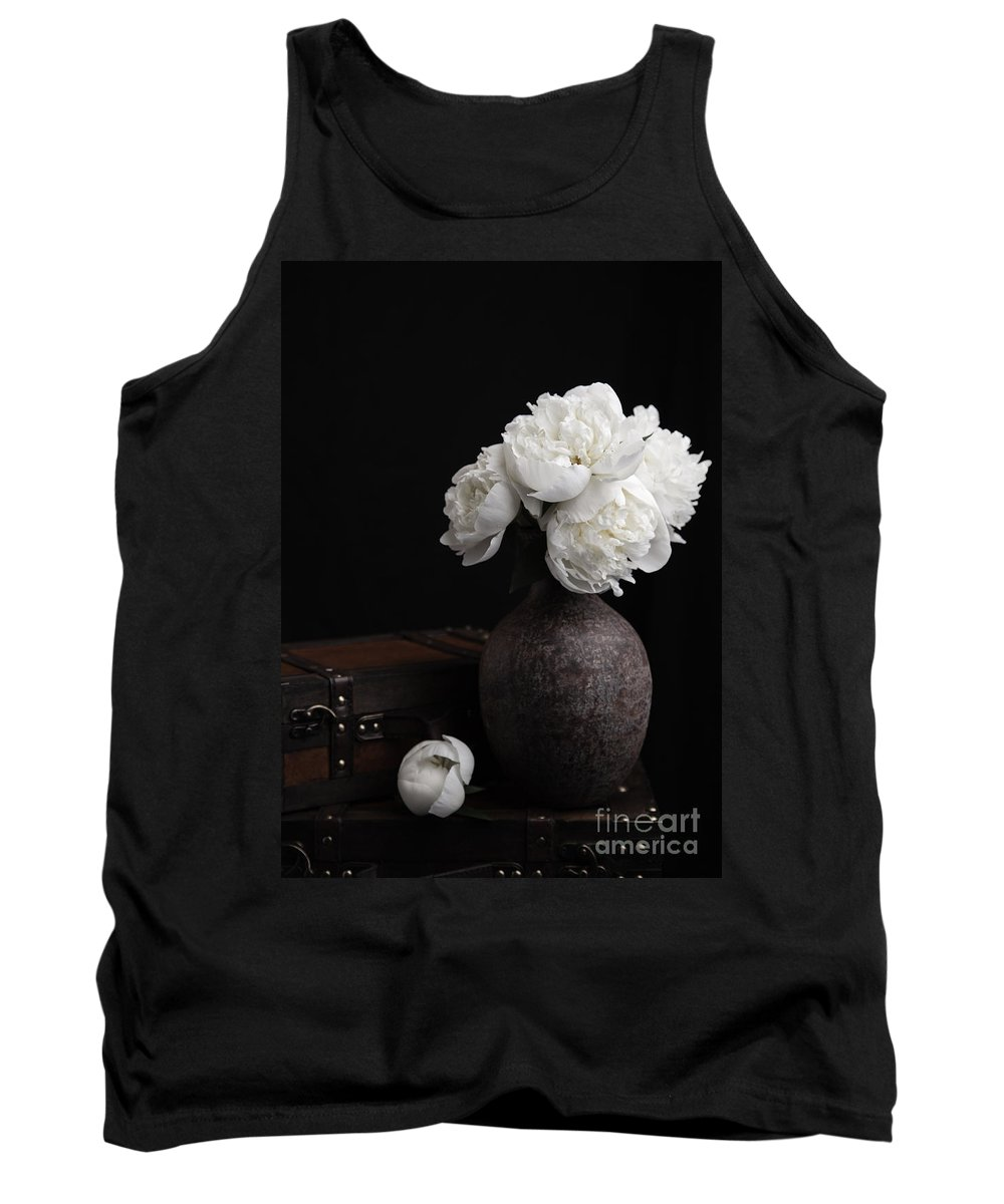 Luggage Tank Top featuring the photograph Peony Still Life by Edward Fielding