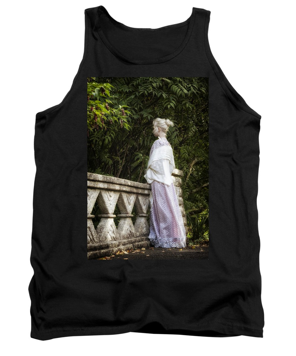 Woman Tank Top featuring the photograph Period Lady On Bridge by Joana Kruse