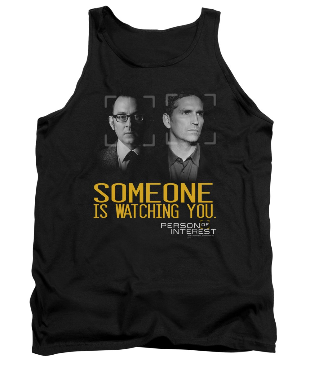 Person Of Interest Tank Top featuring the digital art Person Of Interest - Someone by Brand A