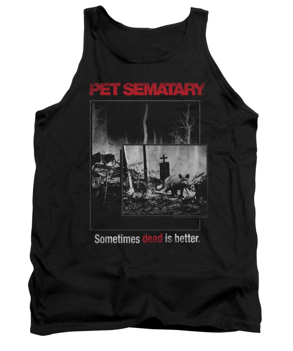 Pet Sematary Tank Top featuring the digital art Pet Semetary - Cat Poster by Brand A