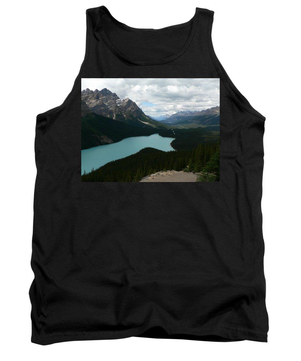 Peyote Tank Top featuring the photograph Peyote Lake In Banff Alberta by Laurel Best