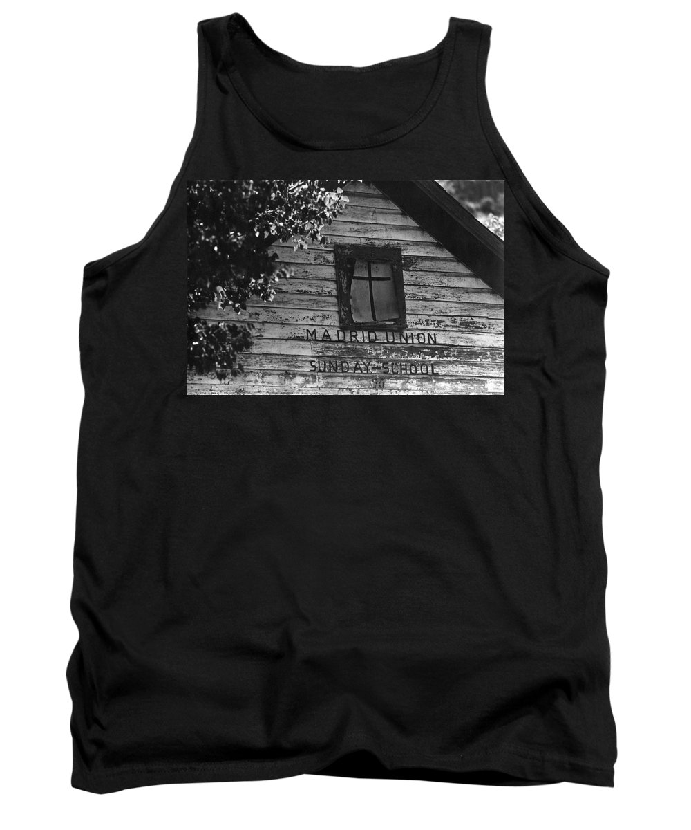 Photography Homage Margaret Bourke-white Ghost Town Madrid New Mexico 1968 Tank Top featuring the photograph Photography Homage Margaret Bourke-white Ghost Town Madrid New Mexico 1968 by David Lee Guss