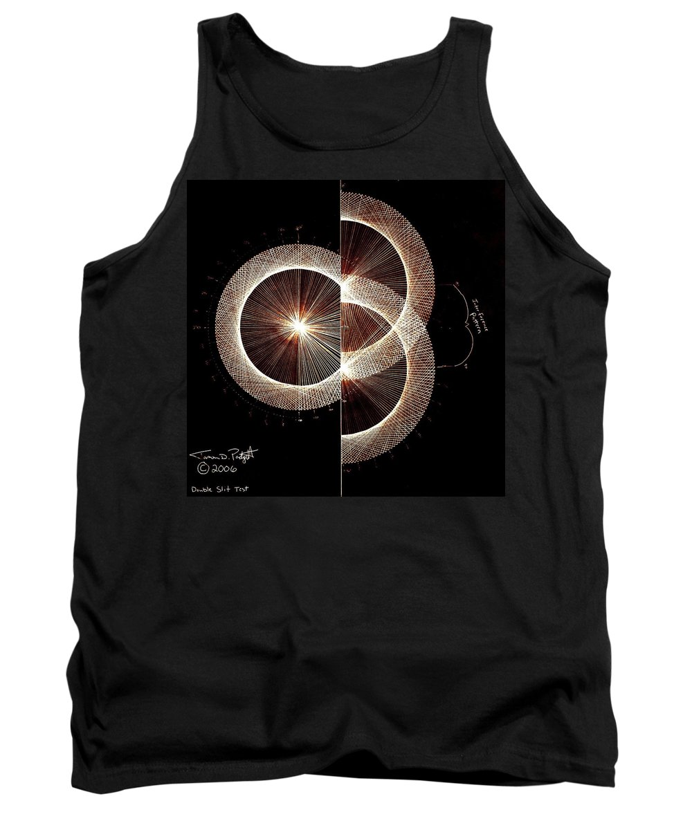 Tank Top featuring the drawing Photon Double Slit Test Hand Drawn by Jason Padgett