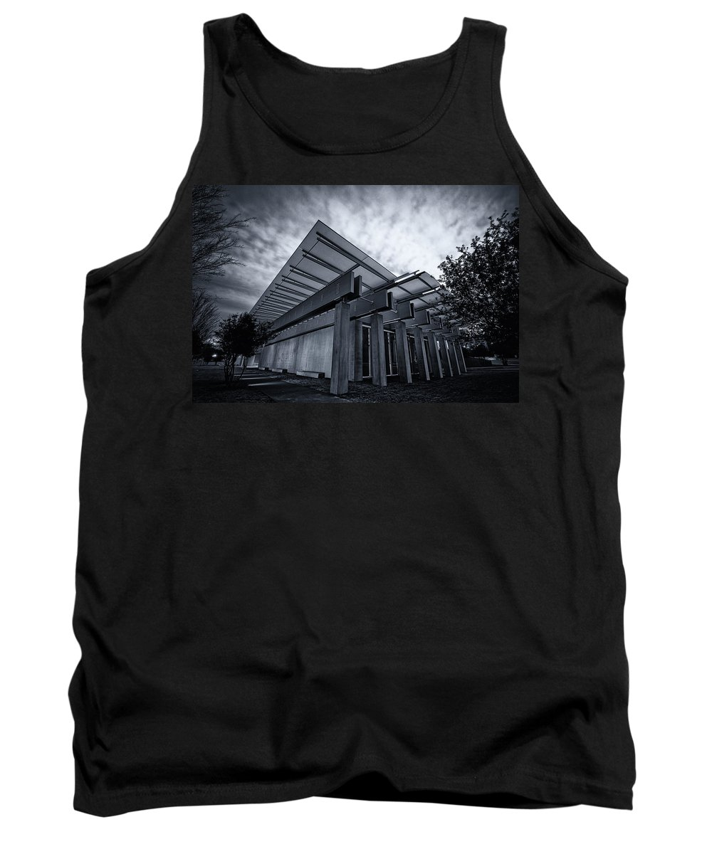 Joan Carroll Tank Top featuring the photograph Piano Pavilion Bw by Joan Carroll
