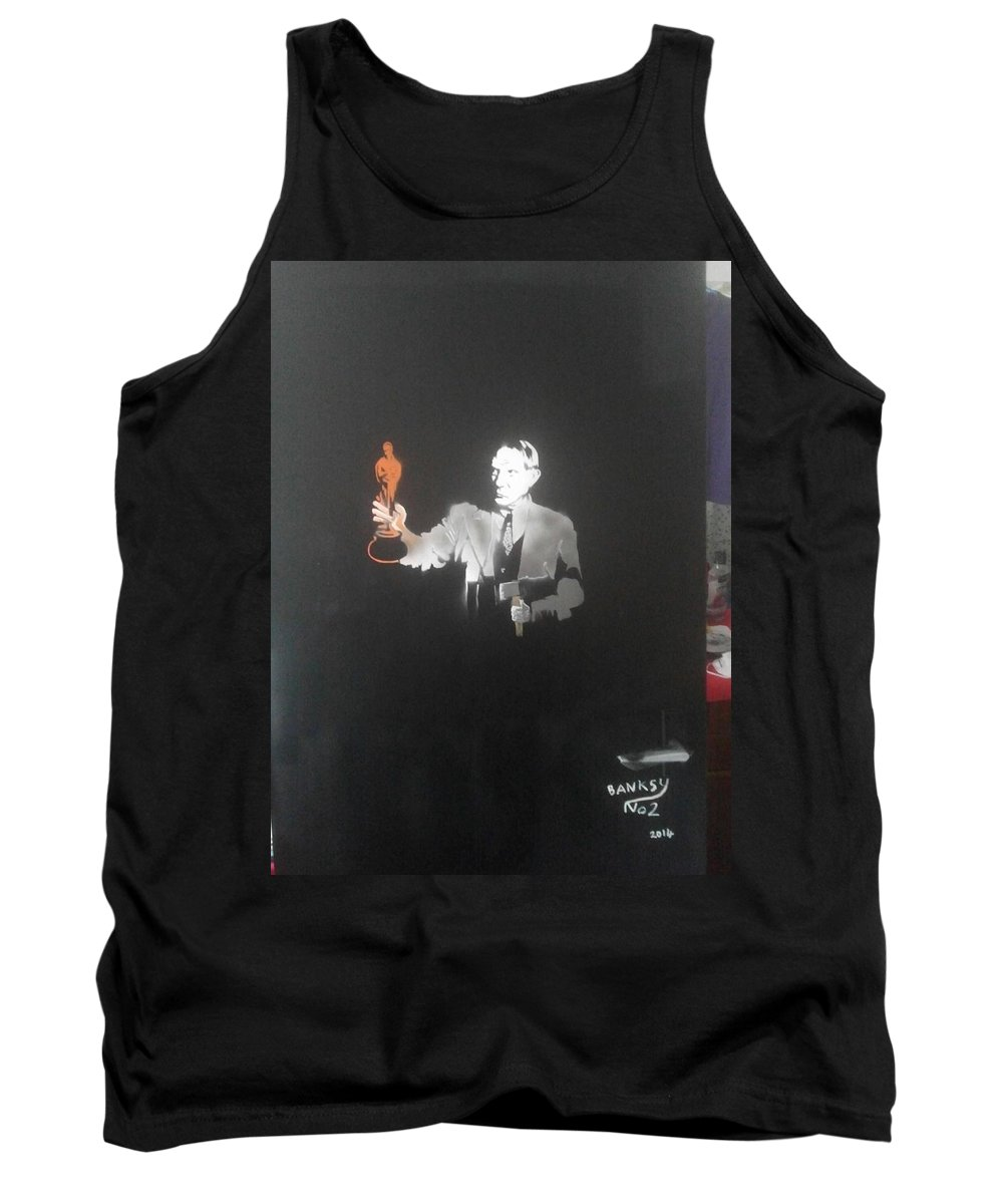 Figurative   Tank Top featuring the painting Pablo Picasso  With Axe And Oscar Tribute To Robin Williams by MERLIN Vernon