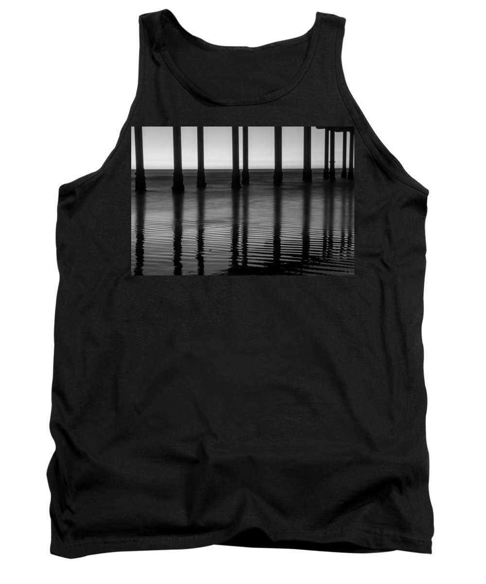 Pier Tank Top featuring the photograph Pier Reflections by Lauri Novak