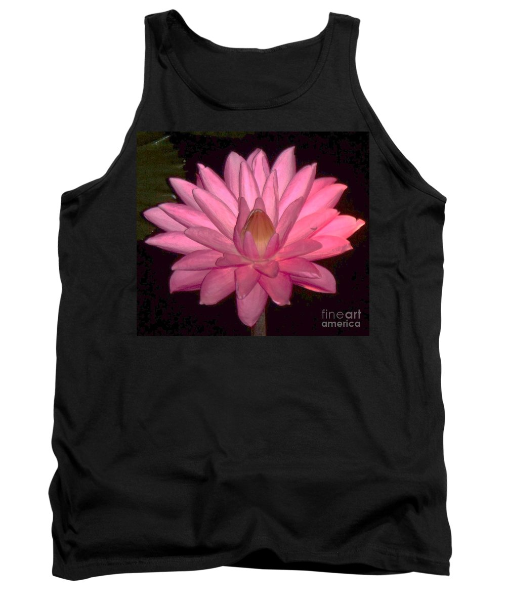 Floral Tank Top featuring the photograph Pink Lily Flower by Eric Schiabor