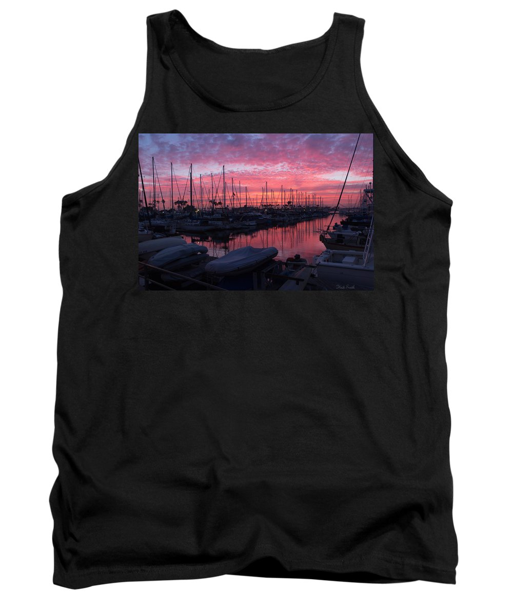 Marina Tank Top featuring the photograph Pink Summer Sunset by Heidi Smith