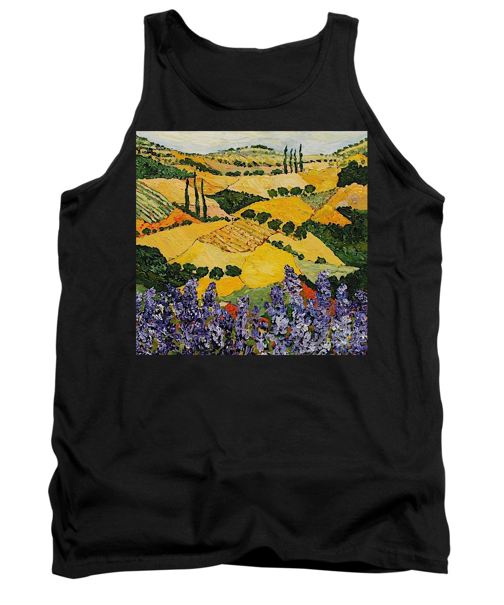 Landscape Tank Top featuring the painting Piping Hot by Allan P Friedlander
