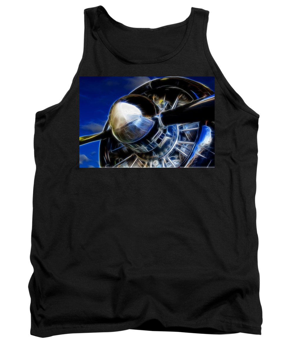Engine Tank Top featuring the photograph Pistons Firing by Ricky Barnard