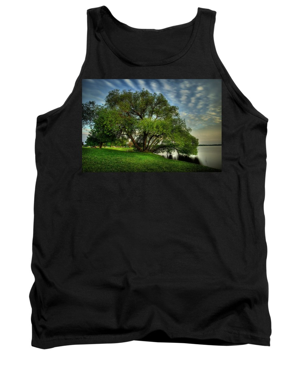 Blue Hour Tank Top featuring the photograph Pithers Willow by Jakub Sisak