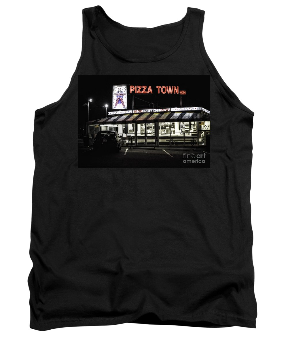 New Jersey Tank Top featuring the photograph Pizza Town by Jerry Fornarotto