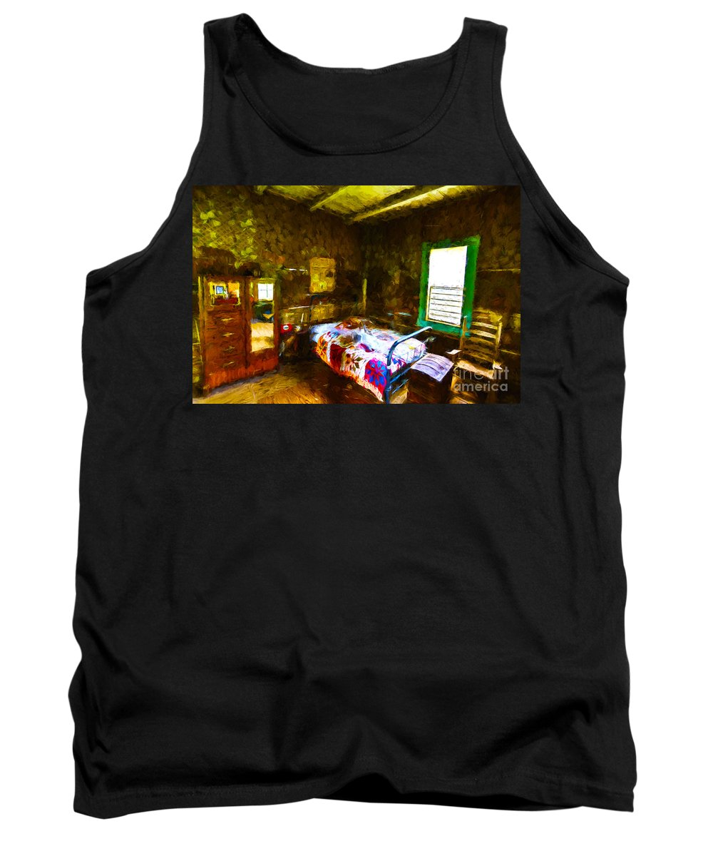 Plantation Tank Top featuring the digital art Places From The Past by Ken Frischkorn