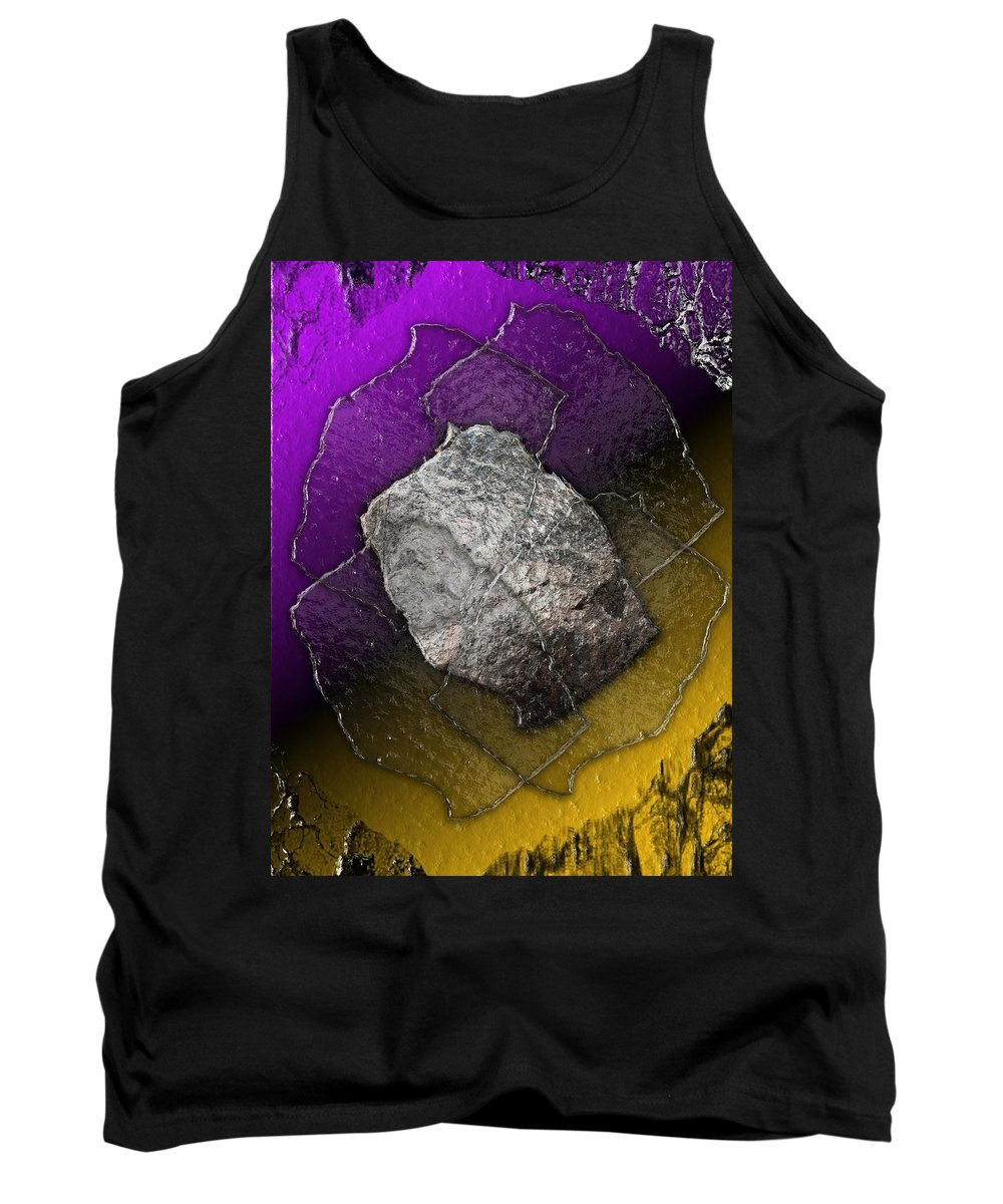 Plate Tank Top featuring the digital art Plates Of Glass And Stone by Michael Hurwitz