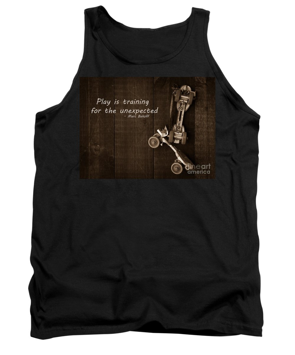 Play Tank Top featuring the photograph Play Is Training For The Unexpected by Edward Fielding