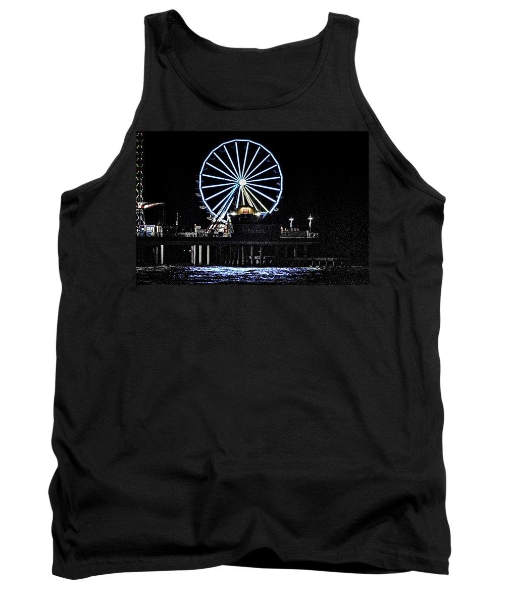 Theme Park Tank Top featuring the photograph Pleasure Pier Ferris Wheel by Kristina Deane