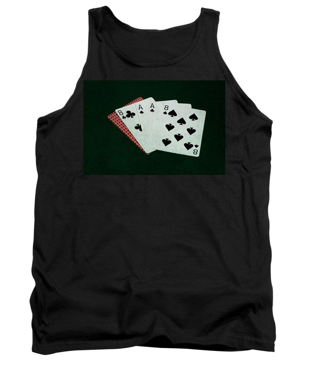 Poker Tank Top featuring the photograph Poker Hands - Dead Man's Hand by Alexander Senin