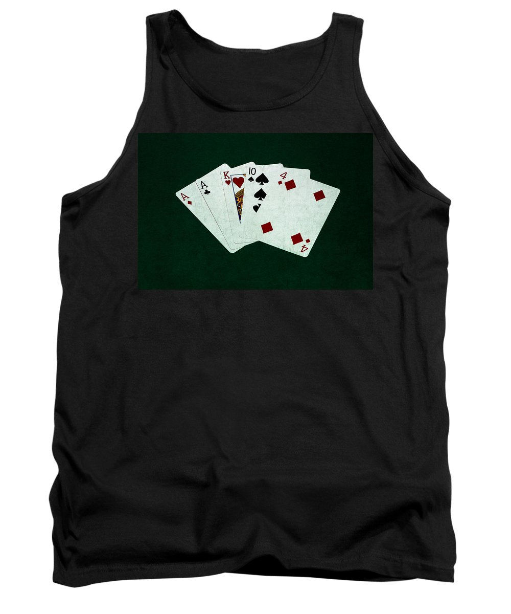 Poker Tank Top featuring the photograph Poker Hands - One Pair 1 by Alexander Senin