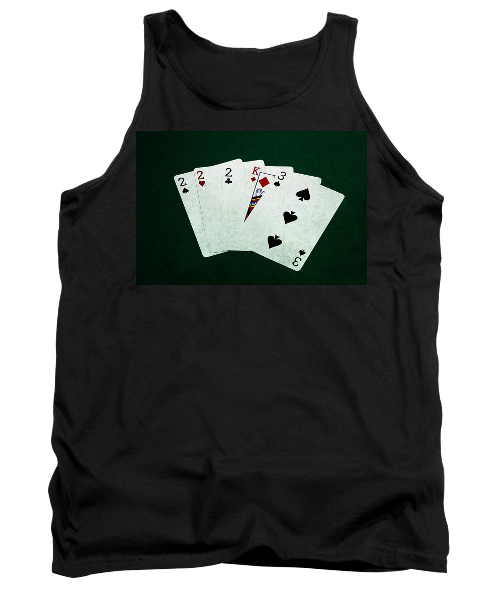 Poker Tank Top featuring the photograph Poker Hands - Three Of A Kind 1 by Alexander Senin