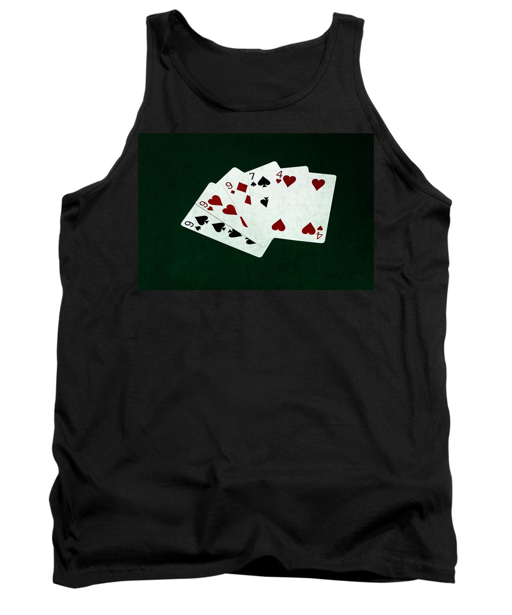 Poker Tank Top featuring the photograph Poker Hands - Three Of A Kind 2 by Alexander Senin