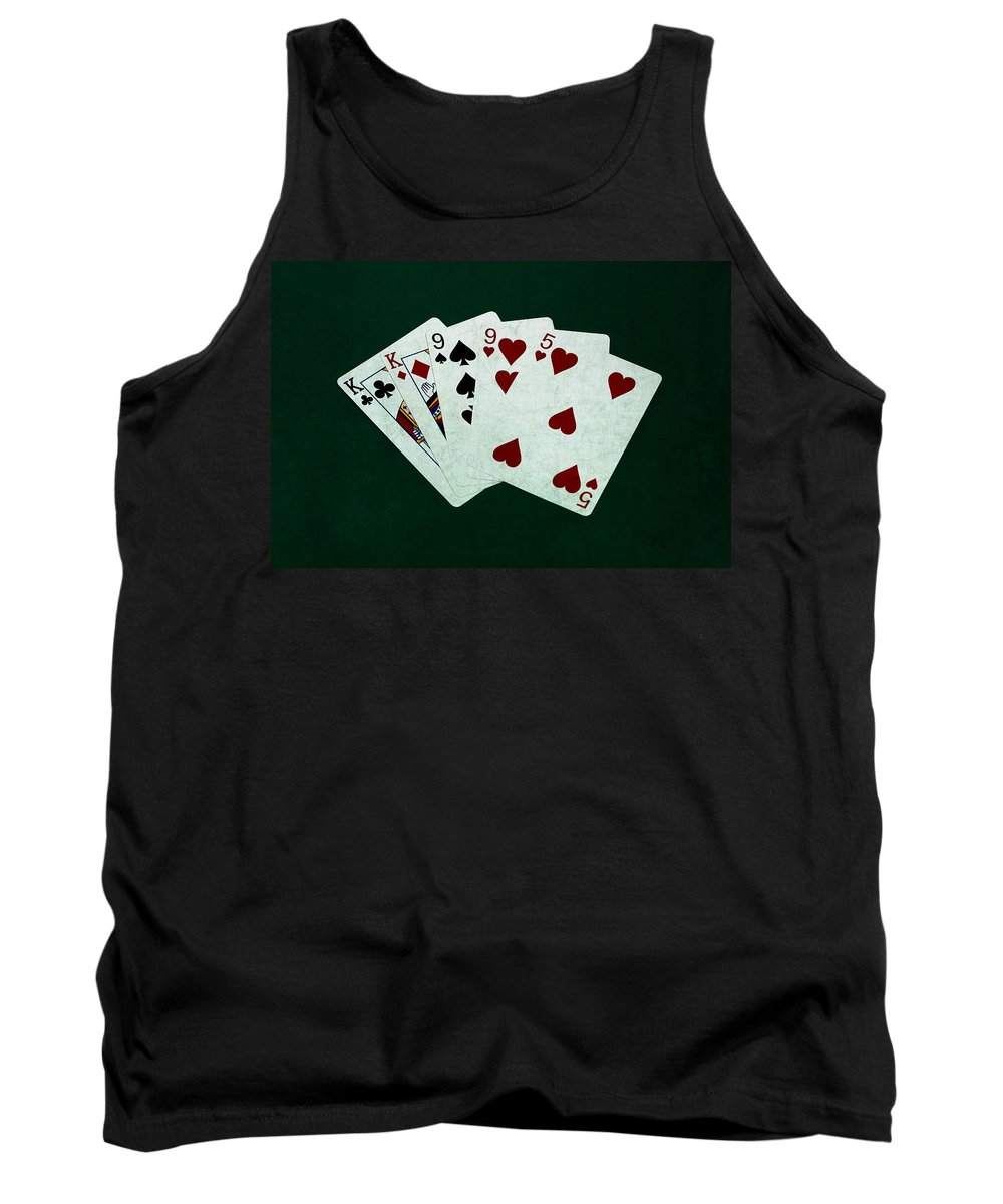 Poker Tank Top featuring the photograph Poker Hands - Two Pair 1 by Alexander Senin