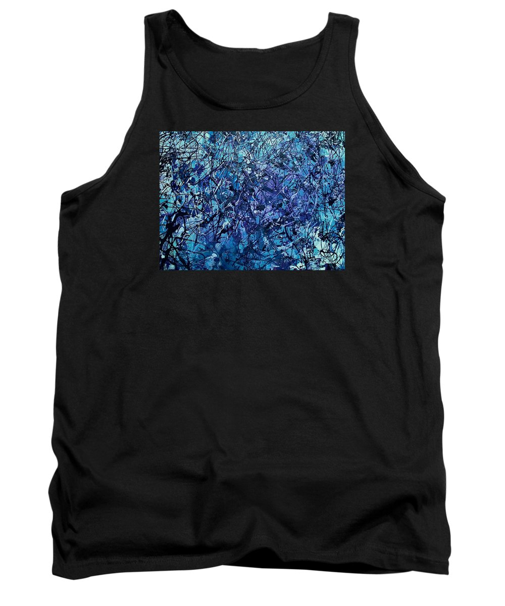 Blue Tank Top featuring the painting Polar Journey by Mark Herman