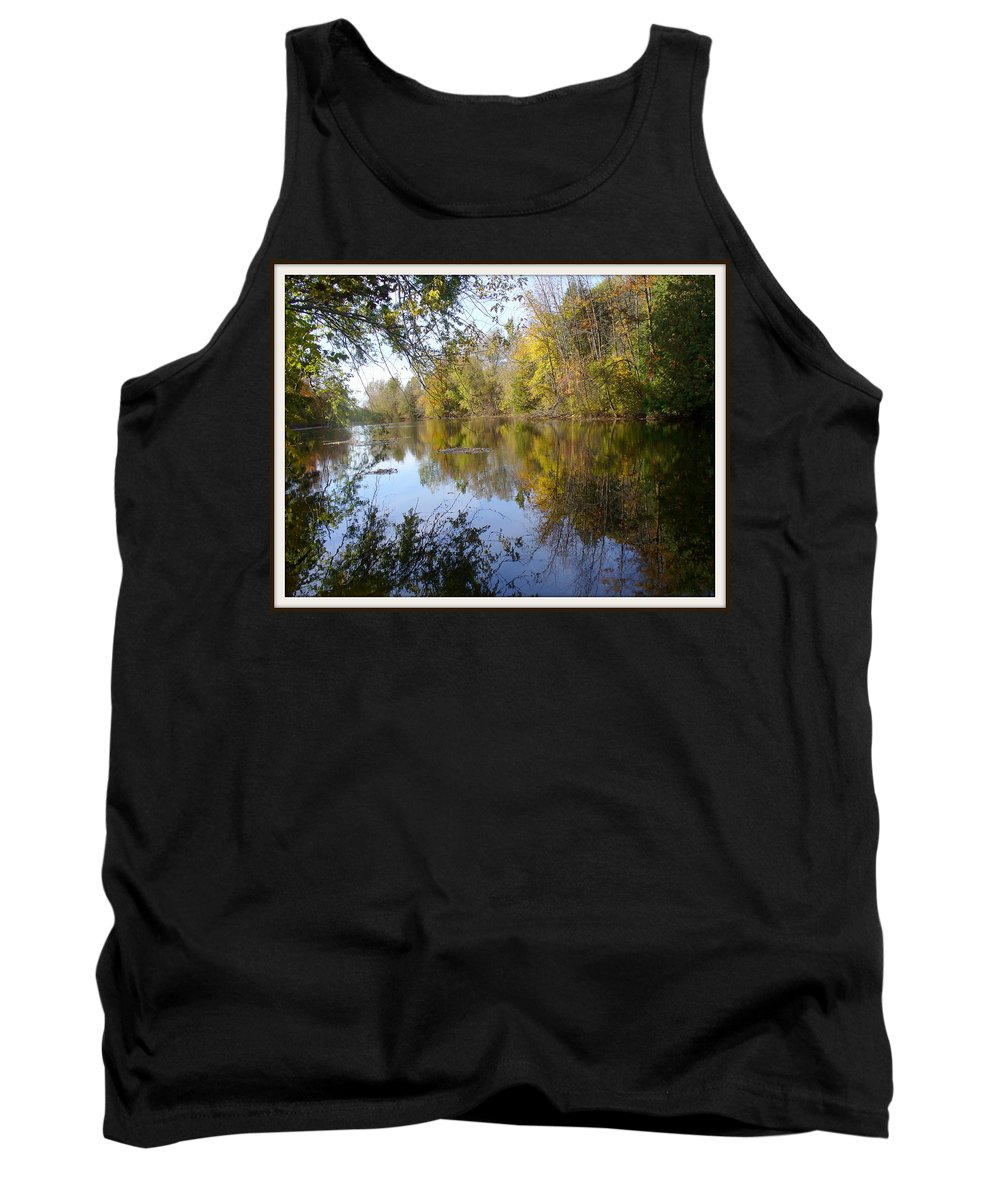 Water Reflection Tank Top featuring the photograph Pond Reflection At Limehouse Ontario by Lingfai Leung