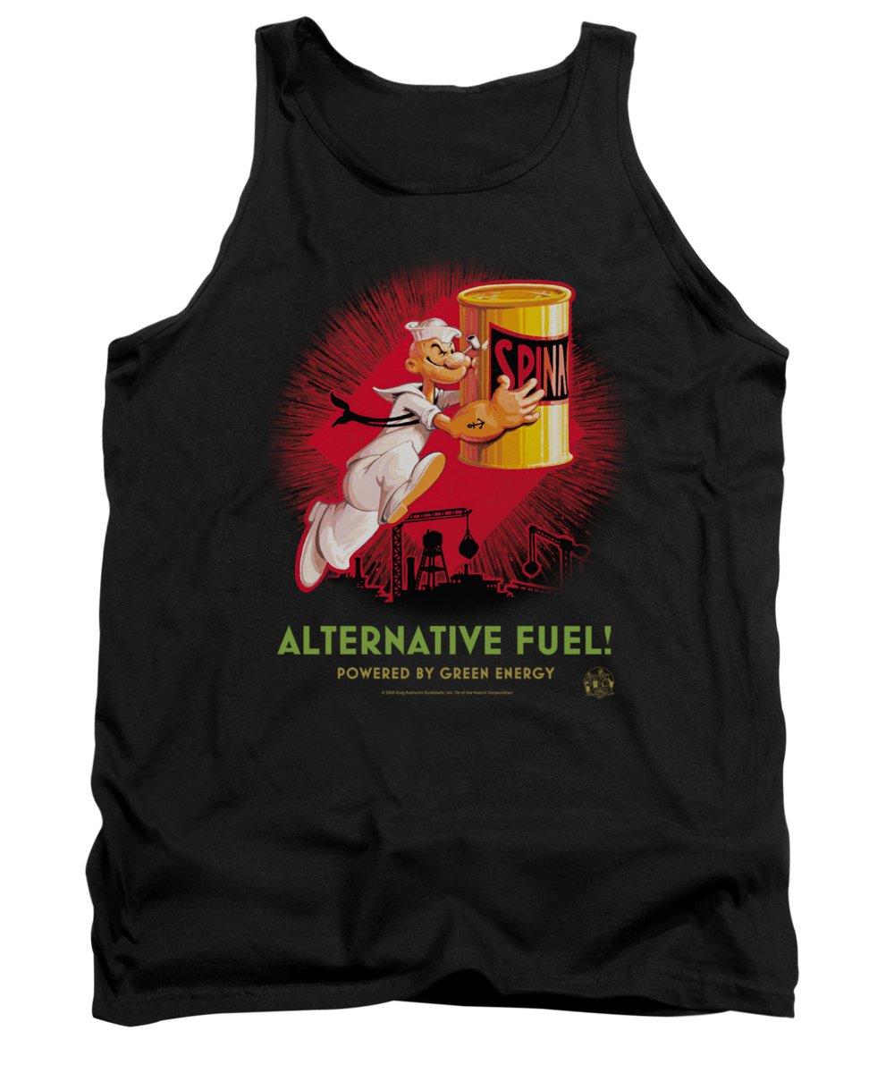 Popeye Tank Top featuring the digital art Popeye - Alternative Fuel by Brand A