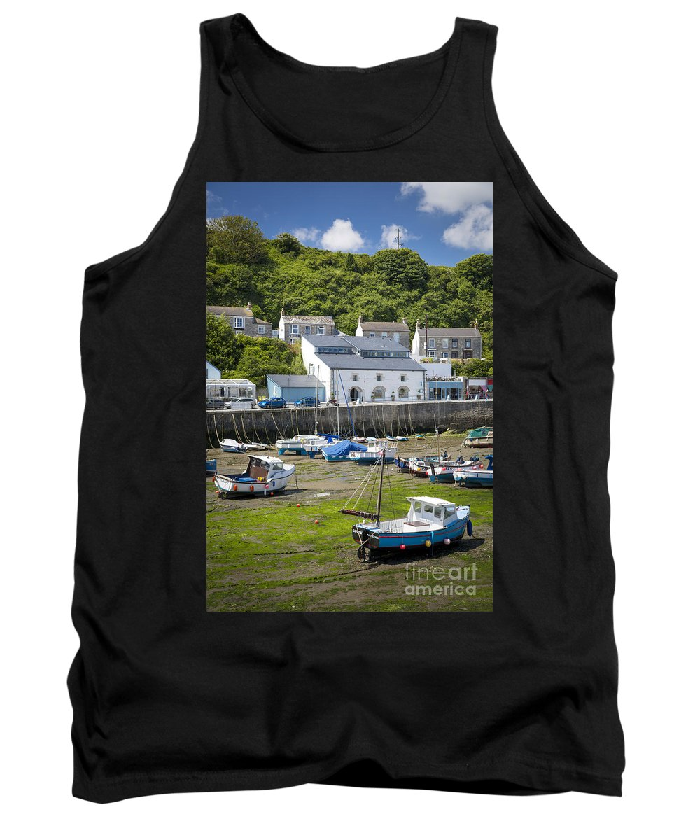 Boat Tank Top featuring the photograph Porthleven Harbor - Low Tide by Brian Jannsen