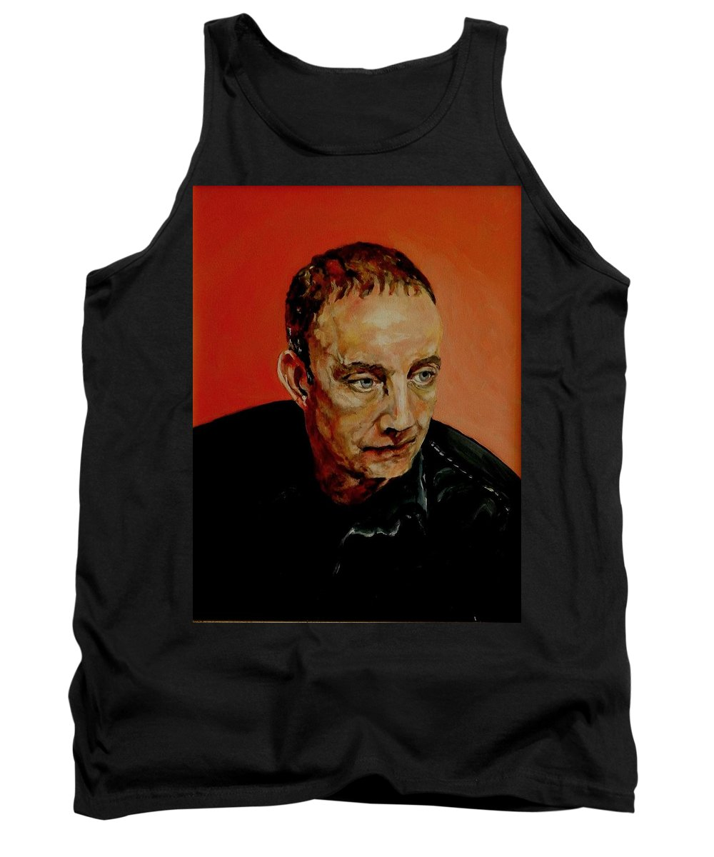 Portrait Tank Top featuring the painting Portrait Of A Man by Jolante Hesse