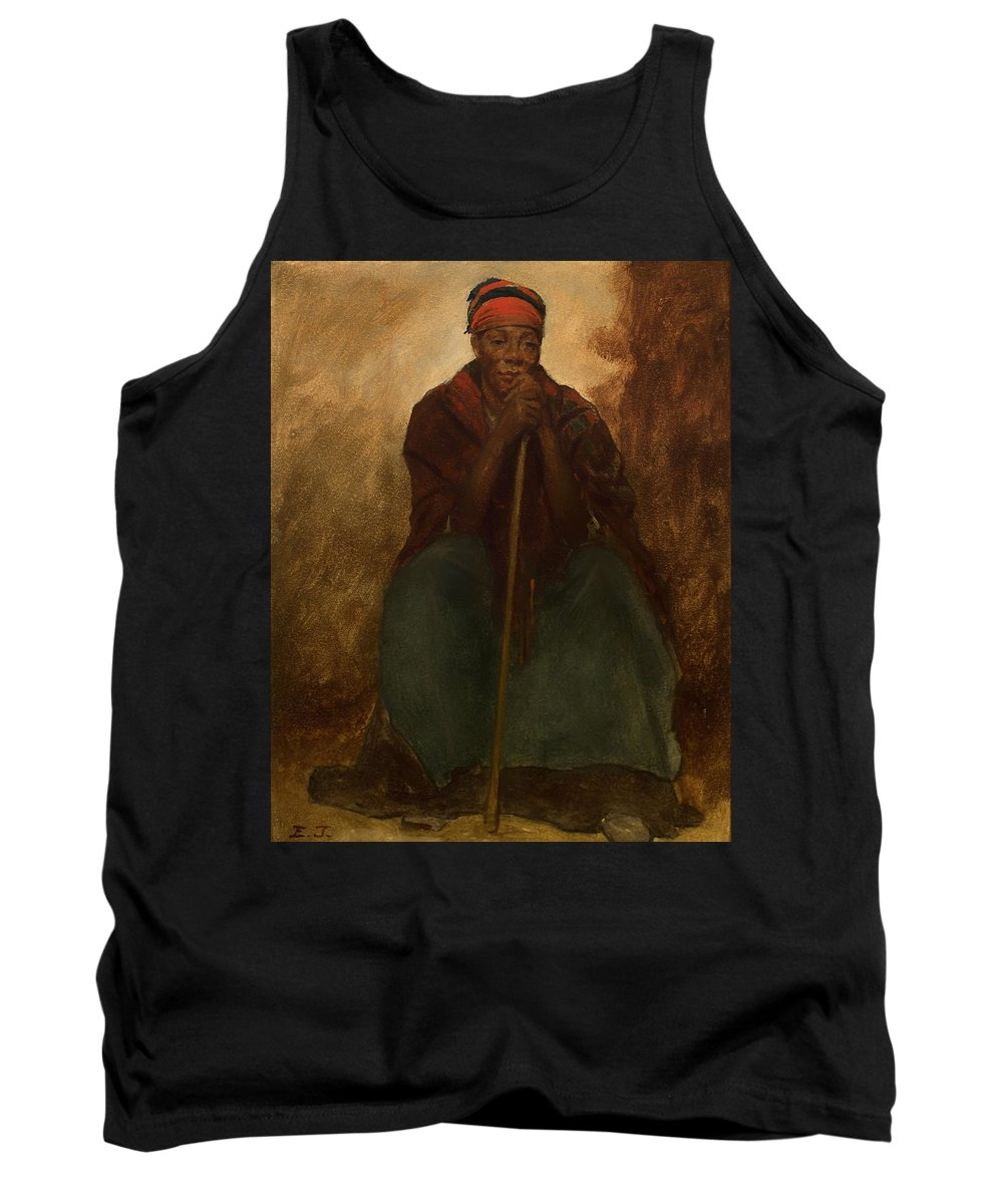 Painting Tank Top featuring the painting Portrait Of A Negress by Mountain Dreams