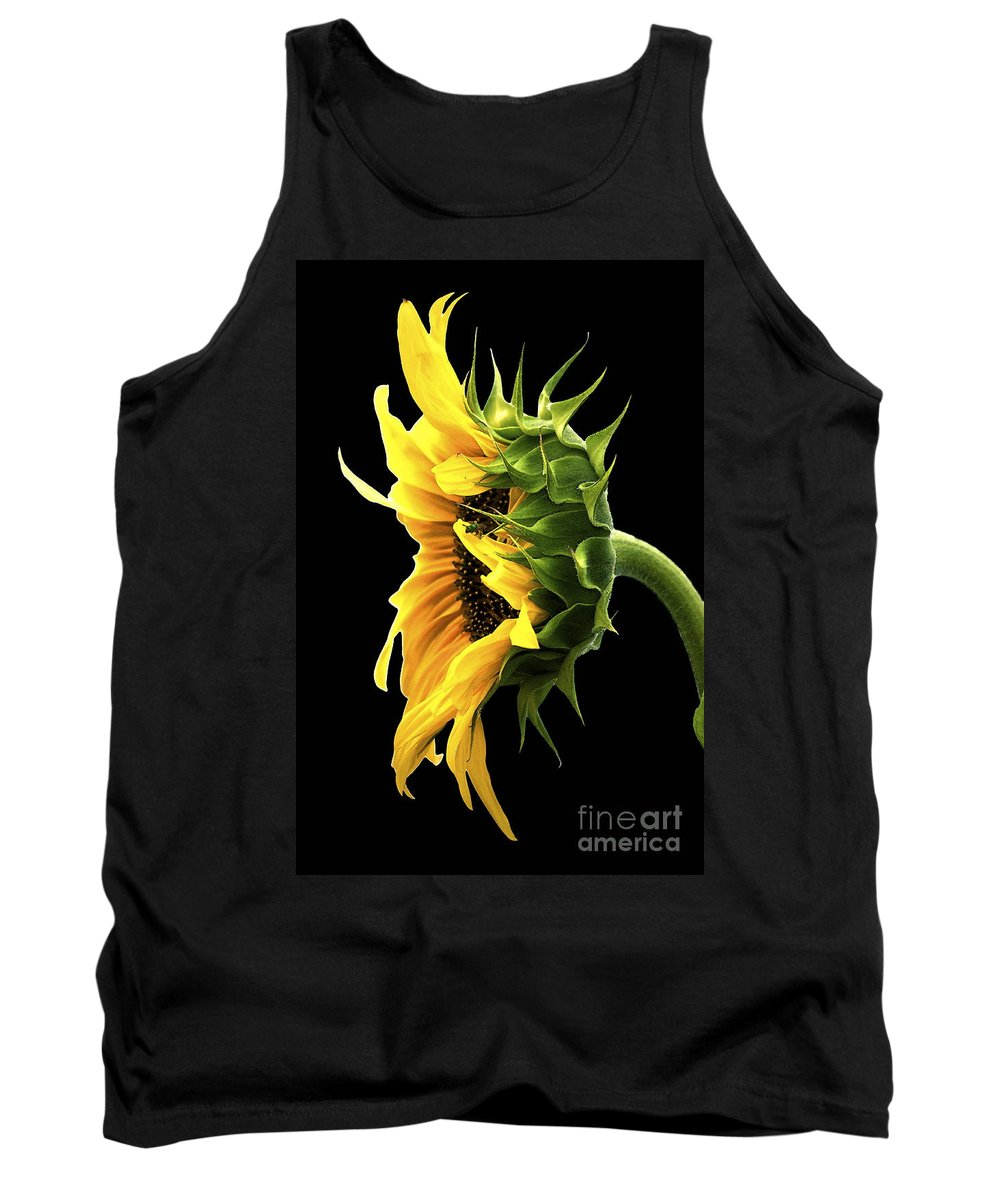 Sunflower Tank Top featuring the photograph Portrait Of A Sunflower by Gwyn Newcombe