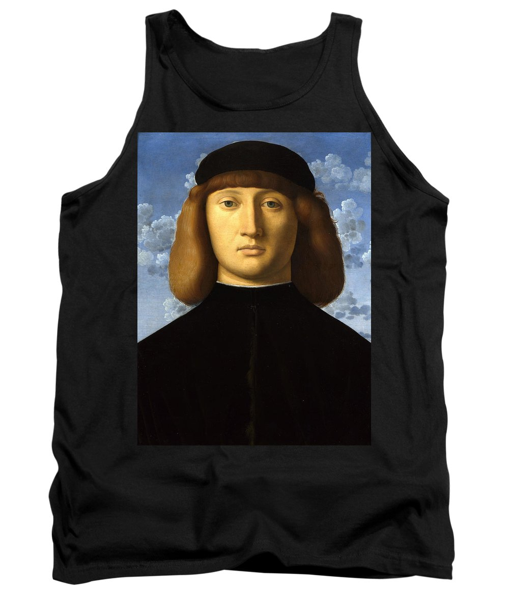 Vincenzo Catena Tank Top featuring the painting Portrait Of A Young Man by Vincenzo Catena