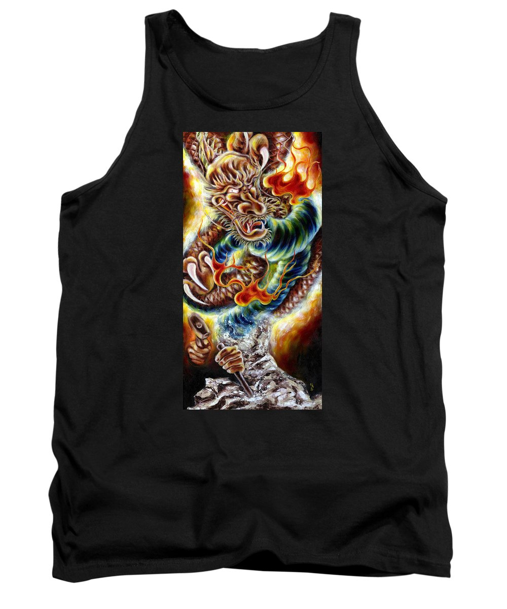 Caving Tank Top featuring the painting Power Of Spirit by Hiroko Sakai