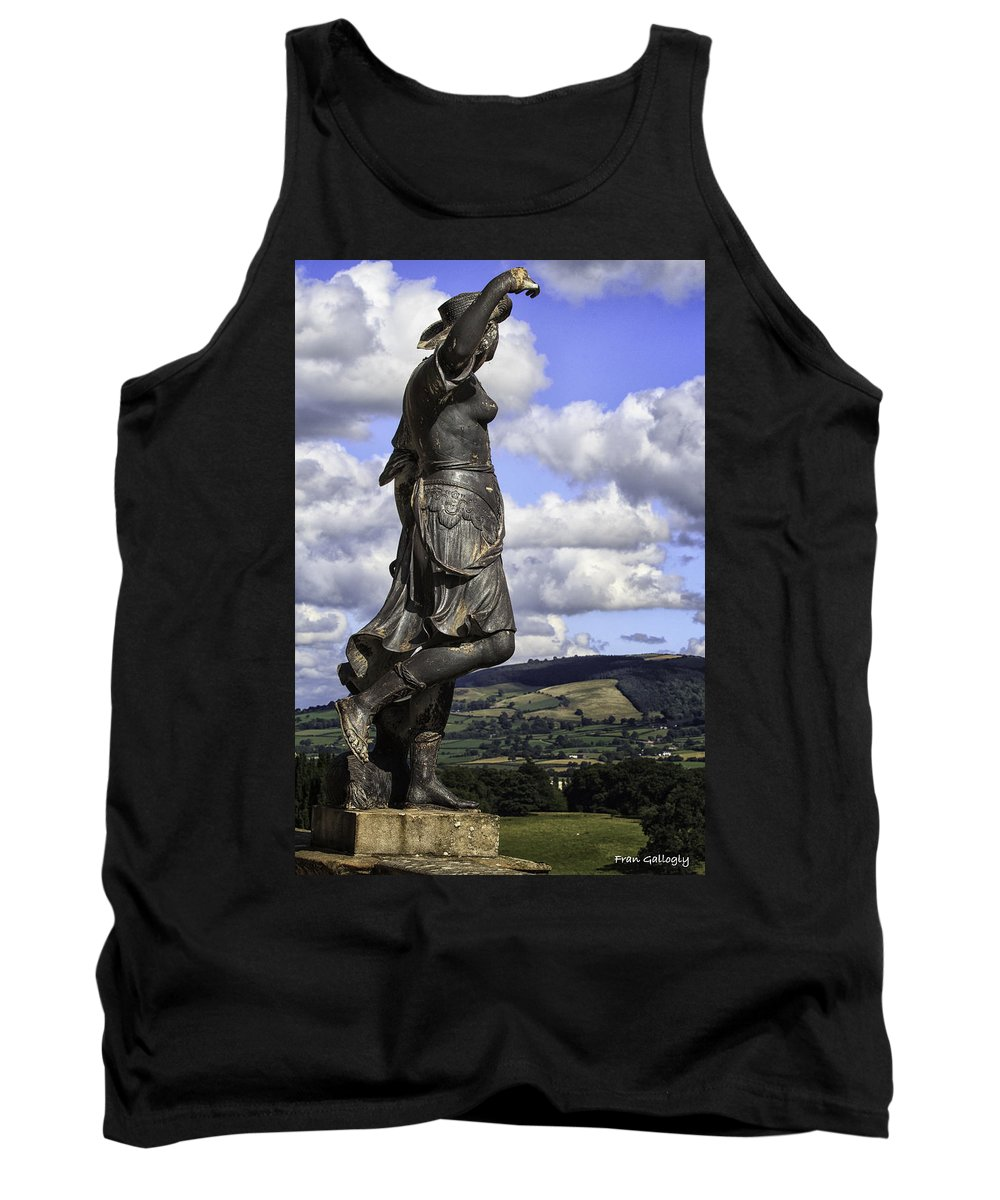 Wales Tank Top featuring the photograph Powis Castle Statuary by Fran Gallogly